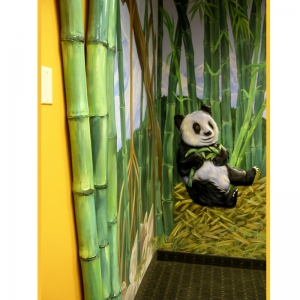 bamboo-murall-rainforest-theme-doctors-office-interior-design