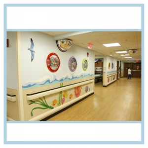 3d-mural-emergency-room-wall-art-porthole-frames-coral-designs-waves
