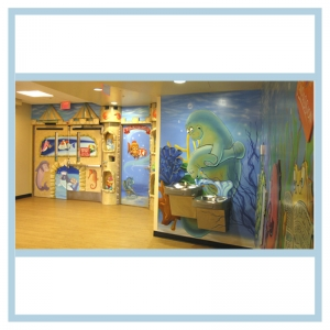 er-entrance-manatees-fish-theme-hospital-murals