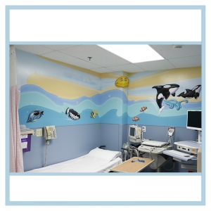 wall-decal-fish-hospital-art-healthcare-design-laboratory-artwork-lighthouse-color-swirls-airbrush-sky-orcas