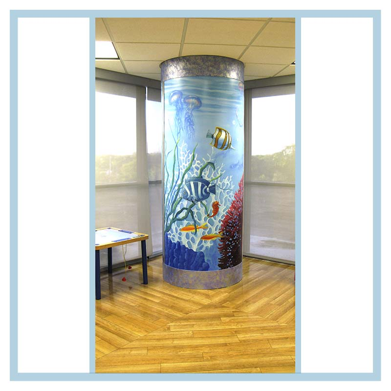 Broward health pediatric unit transformation d nay design for Column fish tank