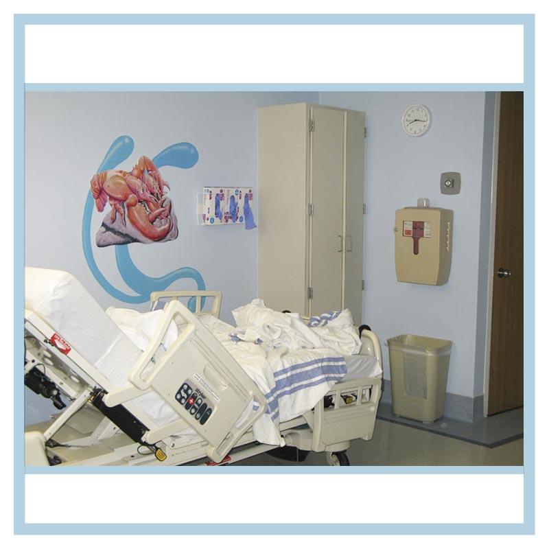 Hospital room decorations for Blue fish pediatrics