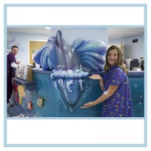 3d-dolphin-patient-smiling-nurses-station-healthcare-design-hospital-art