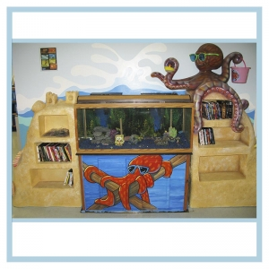 aquaiium-with-octopus-and-bookcase-hospital-design-healthcare-art