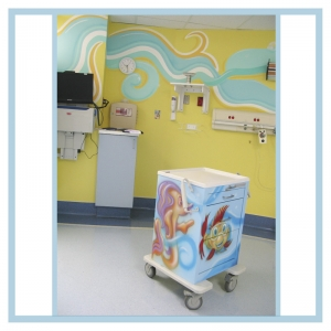 decals-stickers-for-hospital-wallsl-healthcare-design-cute-fish-art-on-cart