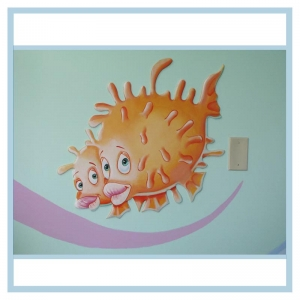 decals-stickers-for-hospital-wallsl-healthcare-design-fish-art-crabs-coral-patient-room-decorations-tropical-theme-orange
