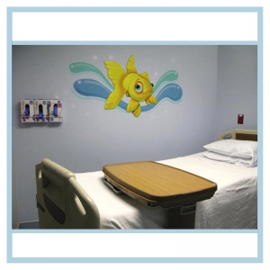 decals-stickers-for-hospital-wallsl-healthcare-design-fish-art-goldfish