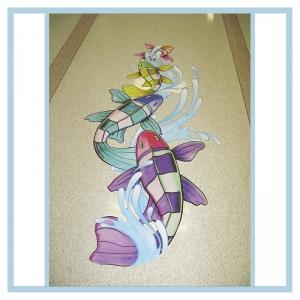 floor-decals-stickers-fish-splashes-hospital-art-healthcare-design-wayfinding-signage