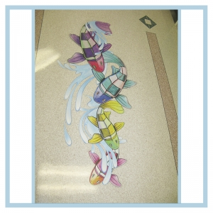 floor-decals-stickers-fish-splashes-hospital-art-healthcare-design