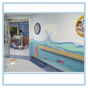 hallway-art-pacu-unit-healthcare-design-porthole-frames-with-pictures-3d-fish