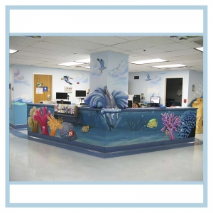 nurse-station-art-pediatrics-wing-healthcare-design-hospital-art-murals