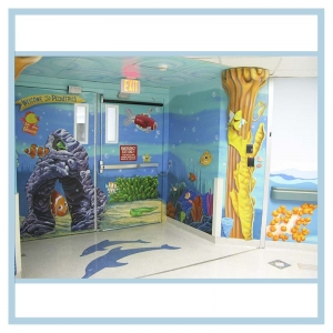 pediatric-entrance-3d-mural-hospital-art-healthcare-design