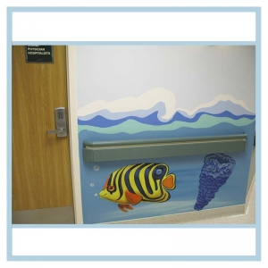 pediatric-entrance-mural-3d-fish-hospital-coral-waves-on-wall
