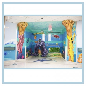 peds-entrance-ceiling-painting-3d-fish-hospital-art-healthcare-design-coral-sub