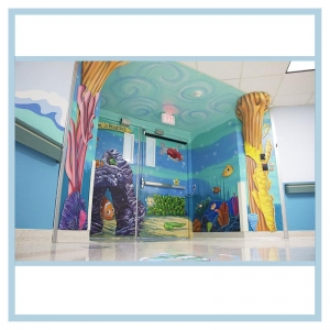 peds-entrance-ceiling-painting-3d-fish-hospital-art-healthcare-design
