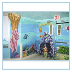 peds-entrance-wall-mural-hospital-design-3d-fish-3d-coral