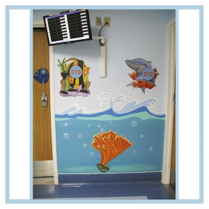 room-markers-3-d-fish-coral-and-waves-on-walls