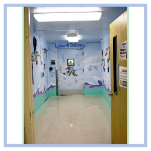 labor-and-delivery-hallway-hospital-art-healthcare-design-murals