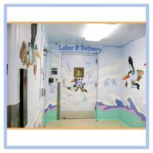 Fort Belvoir DeWitt Hospital - Labor and Delivery Hallway