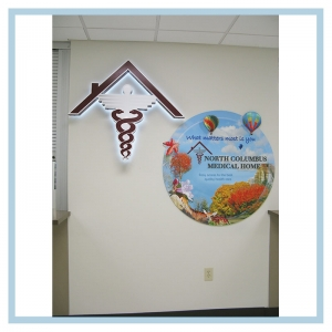 3d-mural-healthcare-design-art-for-hospitals-tropical-theme-beach-hot-air-balloons-military-facility-custom-project