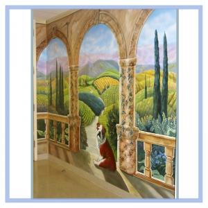 tuscany-columns-landscape-mural-hospital-art-healthcare-design