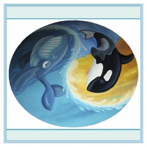 childrens-table-whales-nautical-theme-hospital-murals