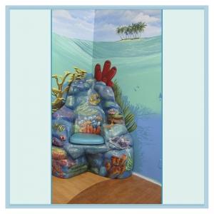 coral-chair-underwater-mural-nautical-theme-hospital-art
