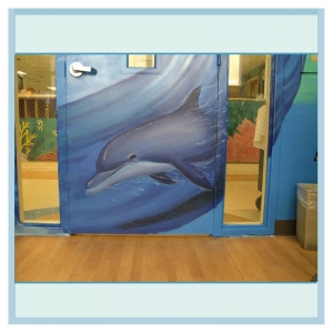 dolphin-close-up-hospital-mural-nautical-theme