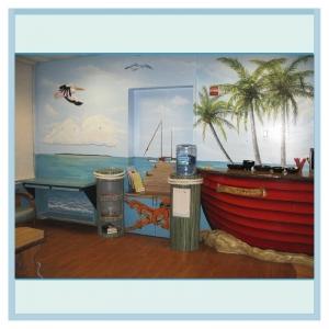 pelican-octopus-mural-nautical-theme