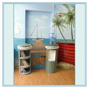 piling-bookcase-custom-water-cooler-hospital-art