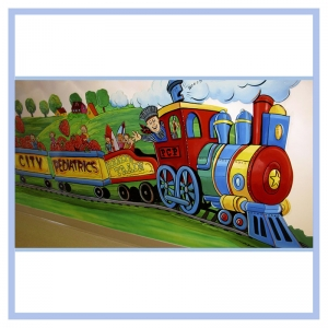 railroad-theme-conductor-childrens-room-hospital-waiting-room-healthcare-art