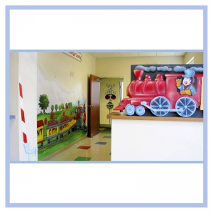 train-theme-railroad-art-design-for-doctors-clinic