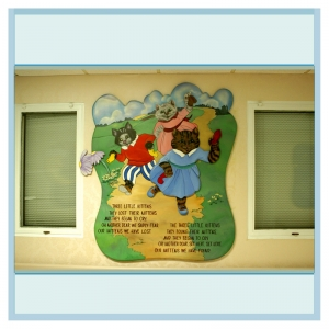 three-little-kittens-nursery-rhyme-hospital-art-murals