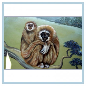 monkeys-rainforest-theme-murals-for-hospitals-pediatric-waiting-room-art