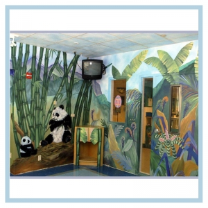pandas-rainforest-theme-pediatric-mural-hospital-art-healthcare-design