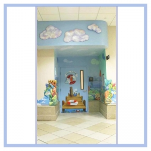 3d-clouds-oncology-entrance-in-hospital-design-tropical-nautical-themed-artwork