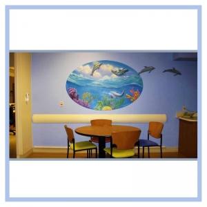 3d-fish-mural-dolphins-hospital-art-healthcare-design