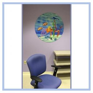 round-3d-mural-hospital-art-healthcare-design-cancer-unit-artwork