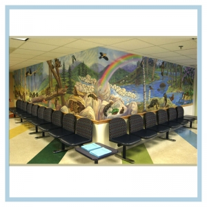 3d-mural-with-52-animals-healthcare-design-hospital-art