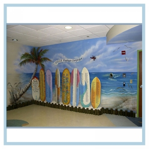 hospital-design-tropical-theme-island-ocean-recognition-wall
