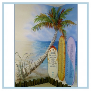 palm-tree-art-mural-for-hospital-healthcare-design