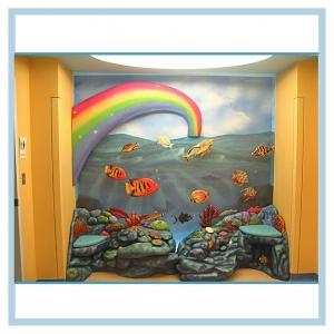 rainbow-underwater-scene-hospital-mural-fish-theme