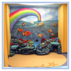 rainbow-underwater-theme-3d-fish-coral-bench-hospital-art-healthcare-design