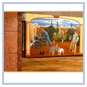 tuscany-mural-wheelchair-in-mural-healthcare-design-hospital-art