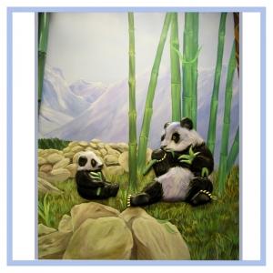 pandas-bamboo-mountains-rainforest-theme-hospital-art-healthcare-design