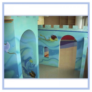 childrens-areas-in-hospitals-beach-theme-fish-sandcastle-healthcare-art