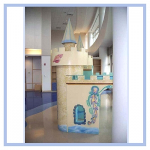 sandcastle-hospital-art-airbrushed-fish-healthcare-design-playhouse-for-children