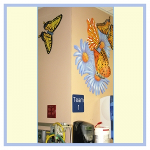 3d-mural-hospital-art-healthcare-design-childrens-waiting-room-butterflies-underwater-theme