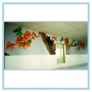 3d-bears-fall-leaves-hospital-art-healthcare-design