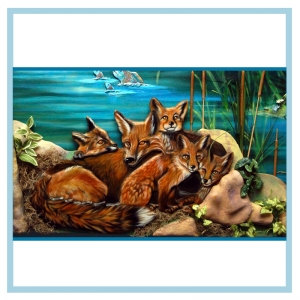 3d-carved-foxes-hospital-mural-healthcare-art